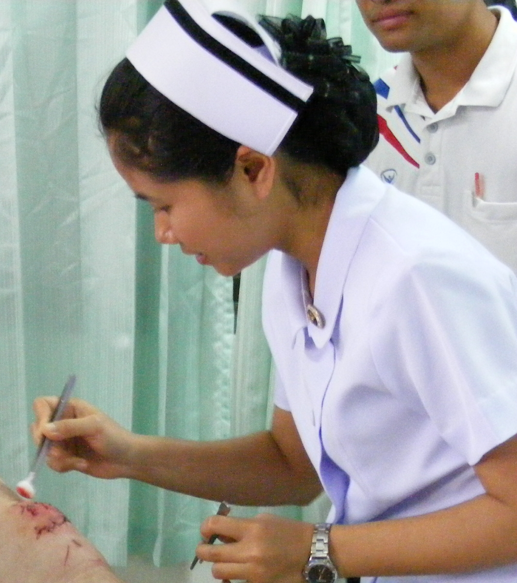 Thai_nurse_in_Na_Wa_Public_Hospital